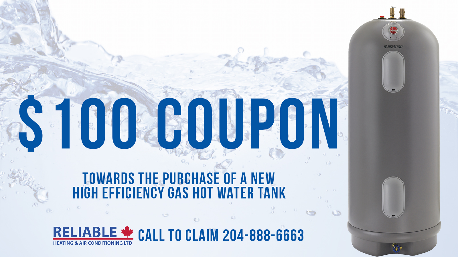 Hot Water Tank Promotions